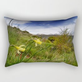 """Narcisus Nevadensis"". Mountain Endemic flower  Rectangular Pillow"