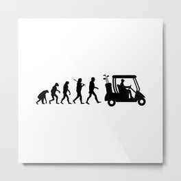 Evolution - golf  black&white Metal Print