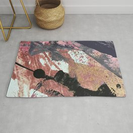 01015: colorful pink purple and gold abstract Rug