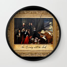 """Franz Liszt Fantasizing at the Piano """"An Evening with the Gods"""" Wall Clock"""