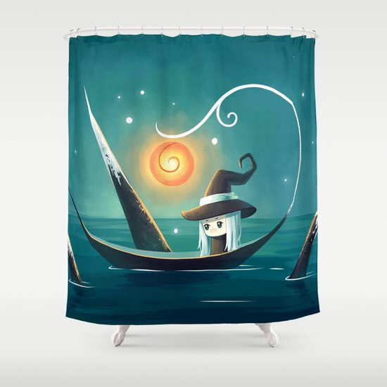 Little Witch 3 Shower Curtain