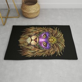 Mardi Gras - Pride Lion With Cute Mask Rug