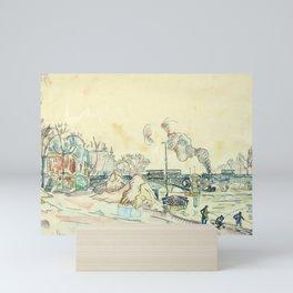 """Paul Signac """"Paris, le Pont des Arts"""" Mini Art Print"""