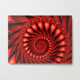 Broken Hearts Fractal Art Metal Print