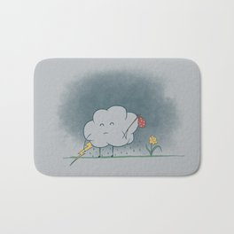 I wandered lonely as a cloud.  Bath Mat