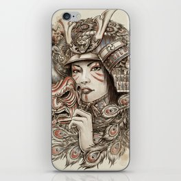 Peacock Samurai iPhone Skin