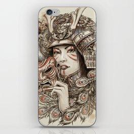 Peacock Samurai iPhone Skin