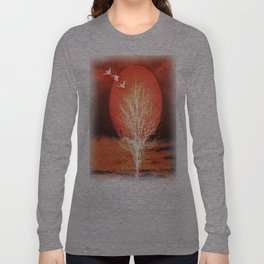 Sun in red Long Sleeve T-shirt