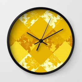 Patchwork, autumn 2 Wall Clock
