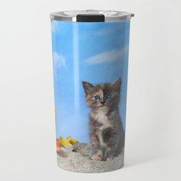 Kitten Fun in the Sun Beach Time Travel Mug