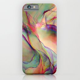 Holographic Marble Ink - Alcohol Ink Painting iPhone Case