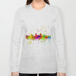 Anchorage, Alaska Skyline - Line & Ink 3 Long Sleeve T-shirt
