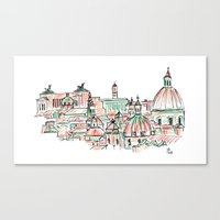 rome Canvas Prints featuring Rome by Ursula Rodgers