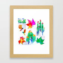 Watercolor Garden Framed Art Print