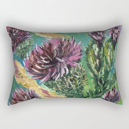 """Thumbnail of the painting """"Thistle"""" Rectangular Pillow"""