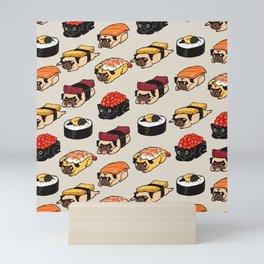 Sushi Pug Mini Art Print