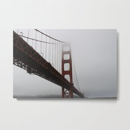 Golden Gate in Fog Metal Print