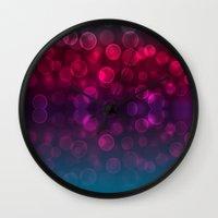 splash Wall Clocks featuring Splash by Aloke Design