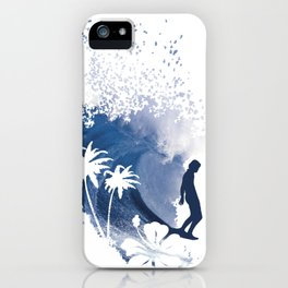 The Longboard Surfer iPhone Case