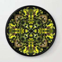 Sun Lit Leaves Wall Clock
