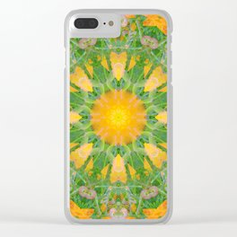 Poppy Flower Mandala (201903) Clear iPhone Case