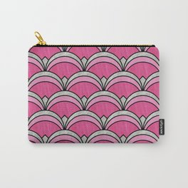 Pink Vintage Twenties Art Deco Pattern Carry-All Pouch