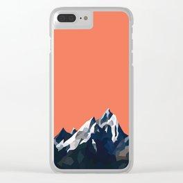 Geo Mountain Range (Part 1) Clear iPhone Case