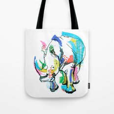 Rhino colour Tote Bag