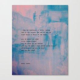 Ending Canvas Print