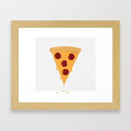 Cheesy Pizza Framed Art Print