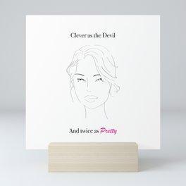 Clever as The Devil Mini Art Print