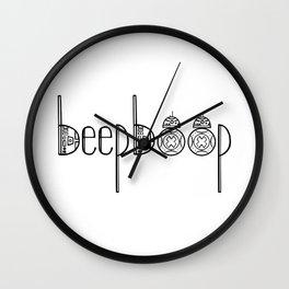 R2 Beep Boop 8 Wall Clock