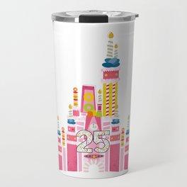 25th Birthday Magic Cake Castle Travel Mug