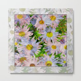 DAISEY MADNESS ABSTRACT  Metal Print