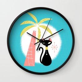 va-CAT-ions Wall Clock