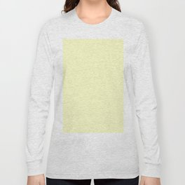 Simply Pale Yellow Long Sleeve T-shirt