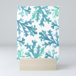 Blue Ombre Coral Mini Art Print