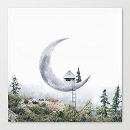 Moon House Canvas Print