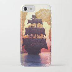 A pirate ship off an island at a sunset Slim Case iPhone 7