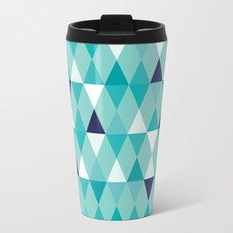 Harlequin Print Teal I Travel Mug