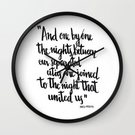 Neruda's nights Wall Clock