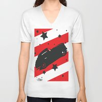ford V-neck T-shirts featuring Hot Ford by Artist Milicent Fambrough