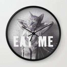 EAT ME - Cat Wall Clock