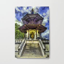 The Pagoda Vincent Van Gogh Metal Print