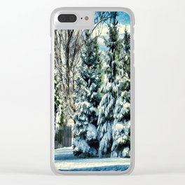 Winter In New England Clear iPhone Case