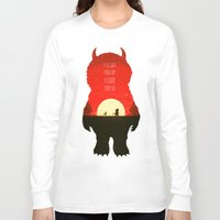 wild things Long Sleeve T-shirts featuring Wild Things by Duke Dastardly