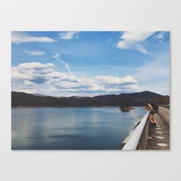 Looking Out To Fontana Dam • Appalachian Trail Canvas Print