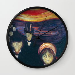 Anxiety by Edvard Munch Wall Clock