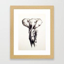 Elephant (Sketch) Framed Art Print