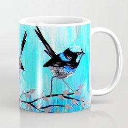 Aqua Fairy Wrens Coffee Mug
